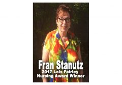 Fran Stanutz Presented the 2017 Lois Fairley Nursing Award
