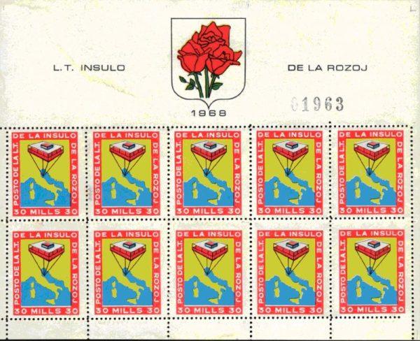 Foglietto_di_francobolli_dell'Isola_delle_Rose