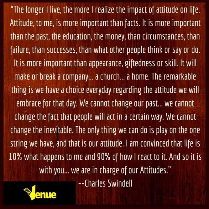 Attitude - Charles Swindoll Quote