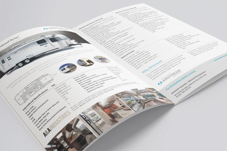 airstream brochure design