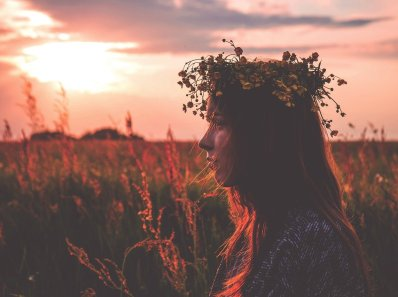 beltane couronne de fleurs