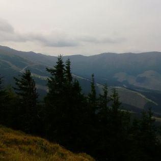 Hrebeň Nízkych Tatier smerom na Chopok.