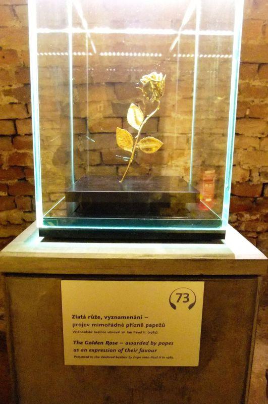 Zlatá ruža, prejav priazne svätého Jána Pavla II bazilike.