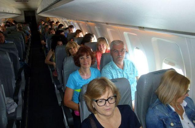 Montenegro Airlines, lietadlo Foker. Odlietame načas.