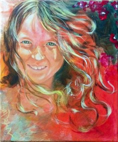 Kirsten-at-9-Years-Acrylic-37x-28-Private-Collection
