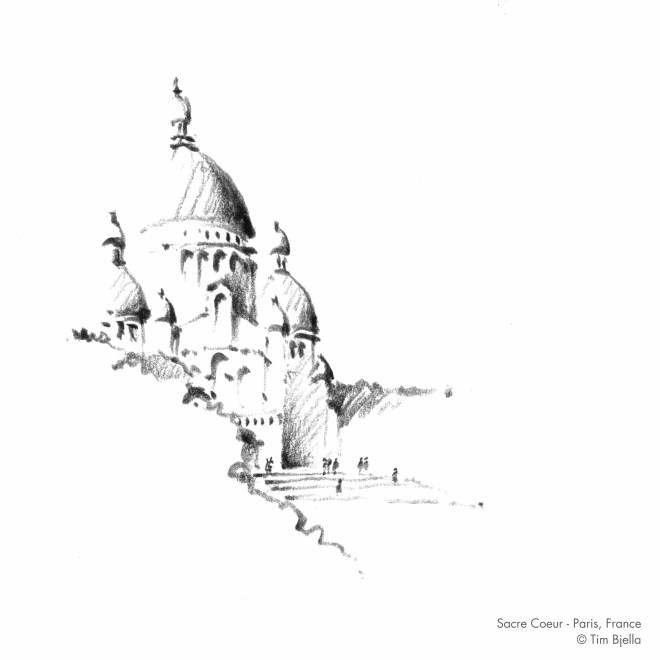 Tim Bjella Sketches - Sacre Coeur Cathedral