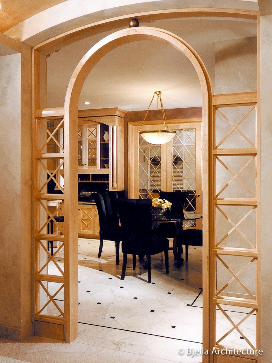 First House Design - Archway to Kitchen