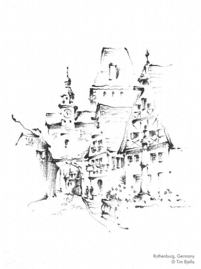Tim Bjella Sketches - Rothenburg