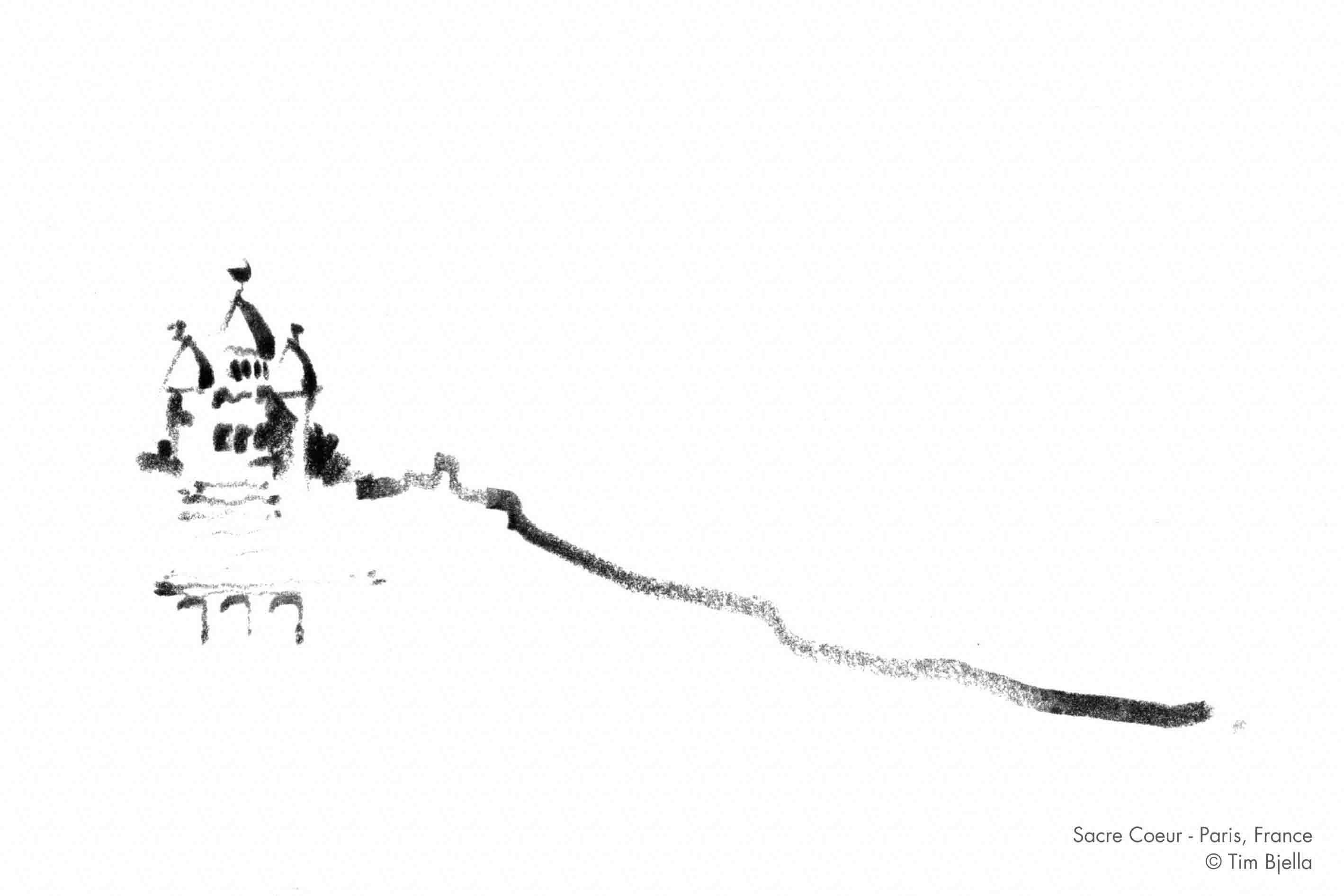 Tim Bjella Sketches - Paris - Sacre Coeur