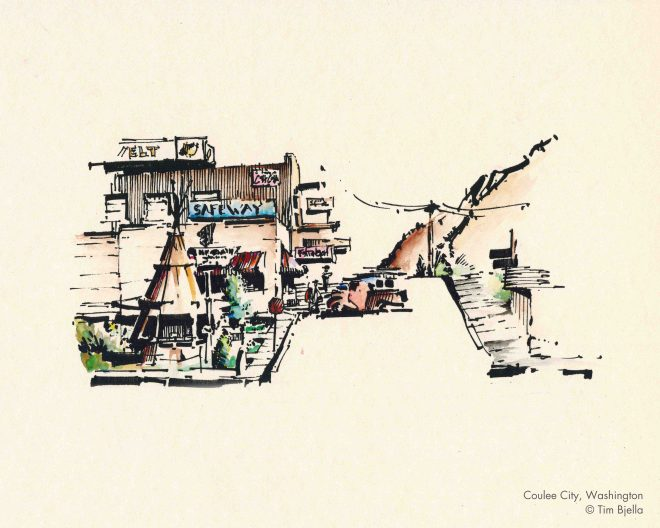 Tim Bjella Sketches - Coulee City, Washington