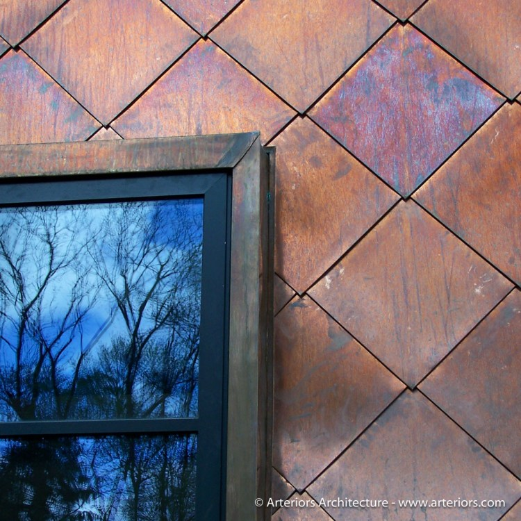 Modern Copper Wall Cladding by Arteriors Residential Architects - Aged 5 years