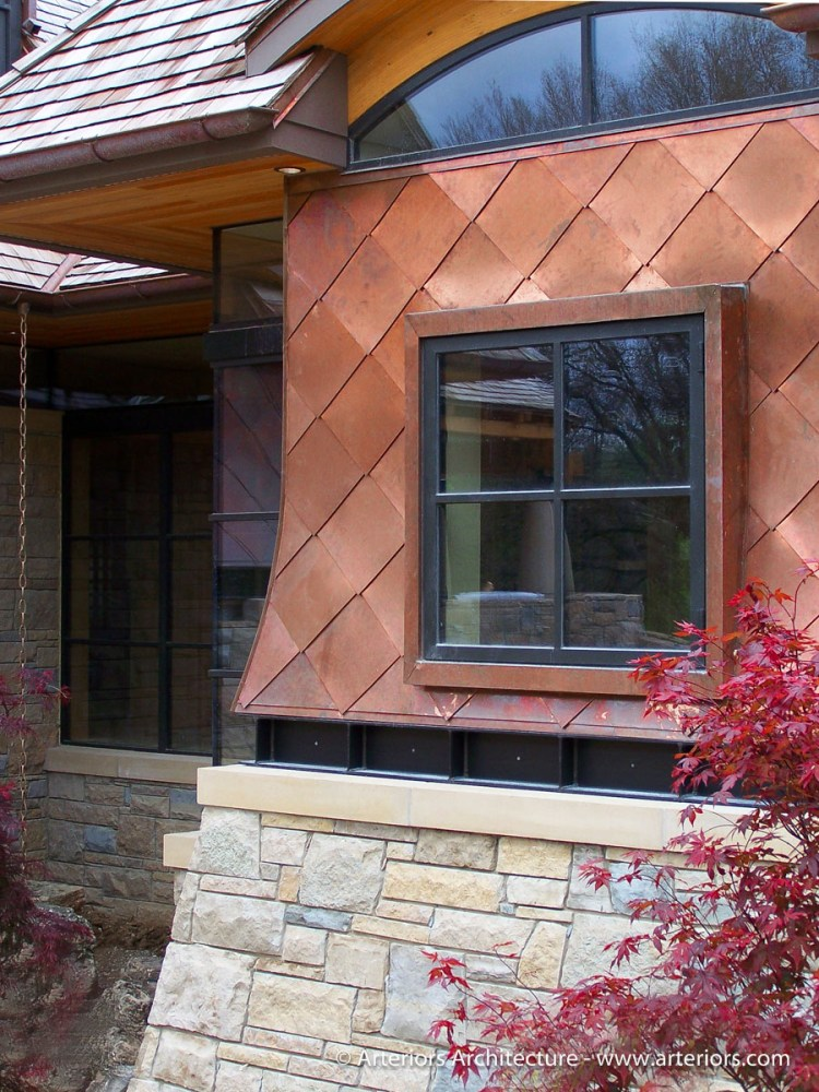 Newly Installed Copper Wall Panels
