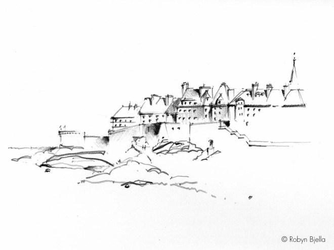Robyn Bjella Sketch - St. Malo, France