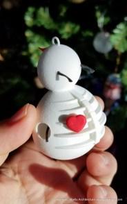 Snowman Ornament 1 - 3d printed - by Tim Bjella-2