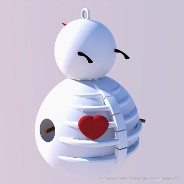 Snowman Ornament Concept by Tim Bjella-2