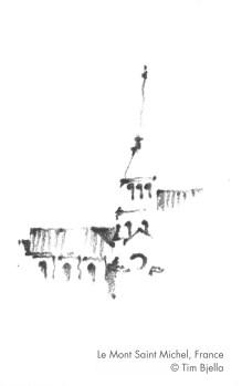 Tim Bjella Sketches - Le Mont Saint Michel