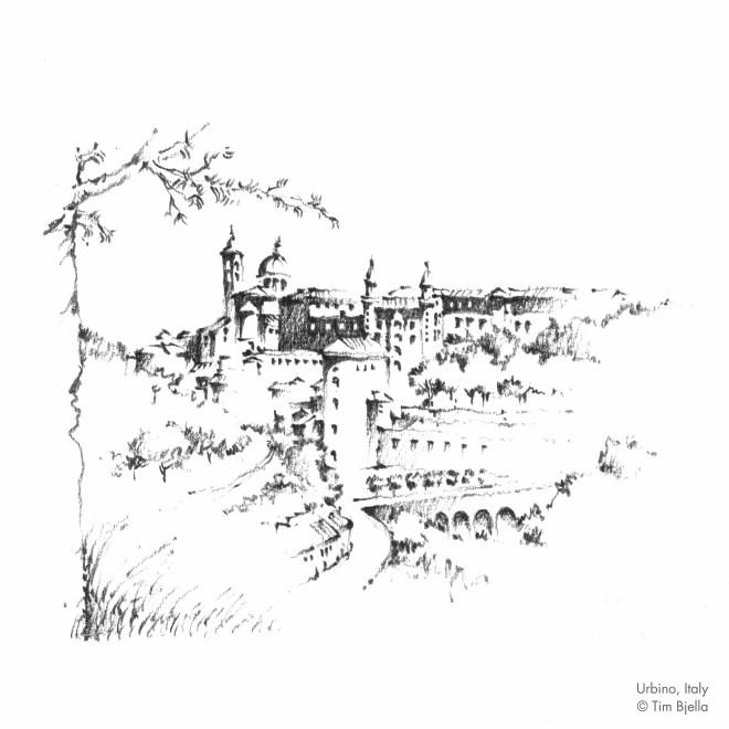 Tim Bjella Sketches - Urbino Italy