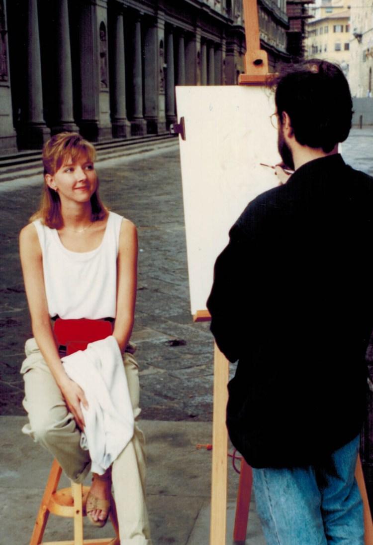 Firenze Sketching - Robyn Bjella Street Portrait