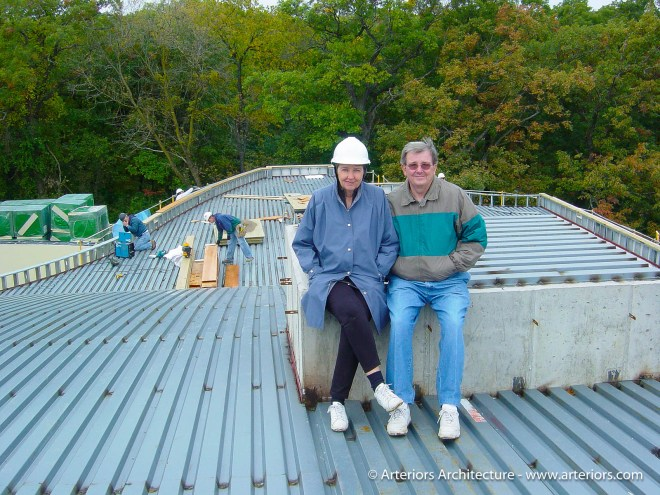 Harold and Delila Schaible on Arteriors Architects Construction Site