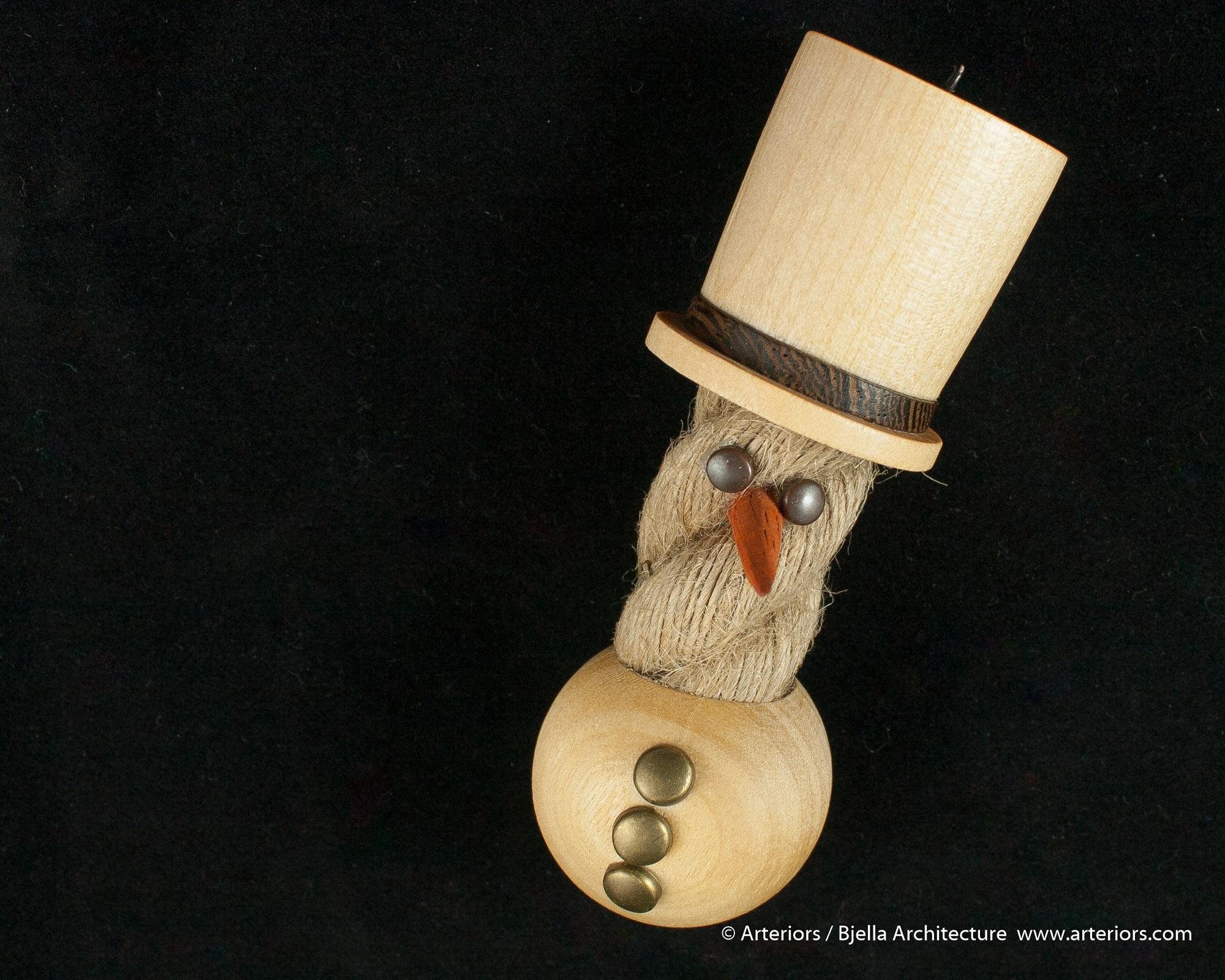 Bjella Snowman Ornament - Day 11 - Rope-21