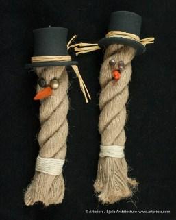 Bjella Snowman Ornament - Day 11 - Rope-22