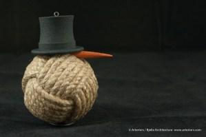 Bjella Snowman Ornament - Day 11 - Rope-4