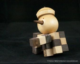 Bjella Snowman Ornament - Day 13 - Puzzle-27
