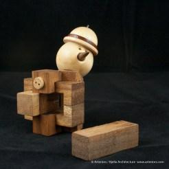 Bjella Snowman Ornament - Day 13 - Puzzle-40