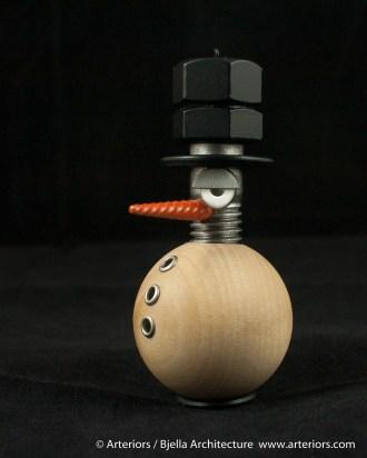 Bjella Snowman Ornament - Day 6 - Metal-4