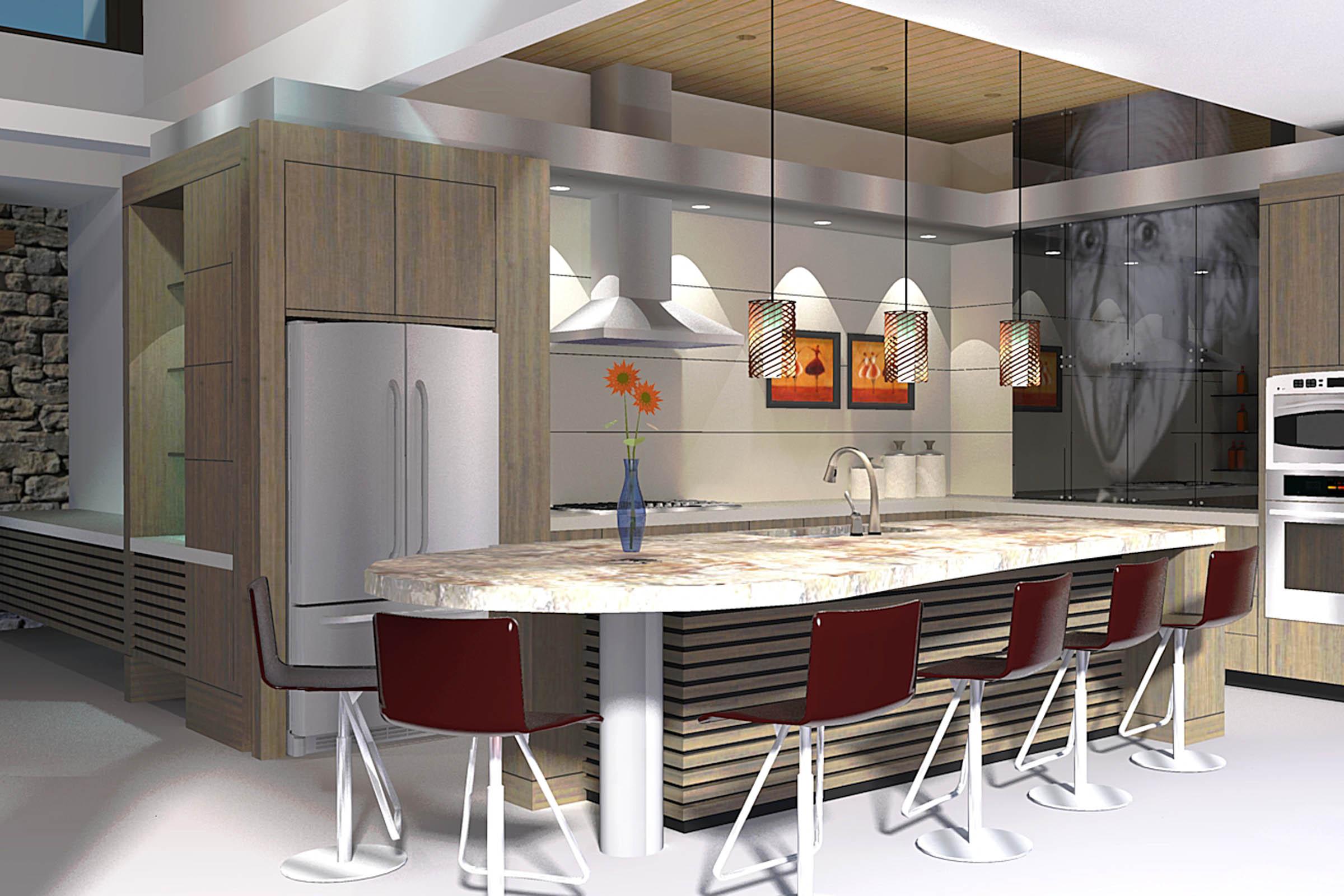 Arteriors Architects Kitchen Design - Computer Model