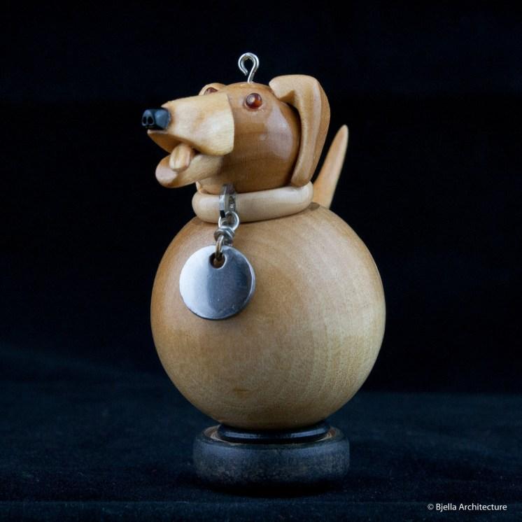 Snowman Ornament Labrador by Tim Bjella-1