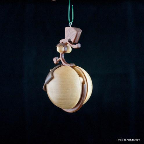 Snowman Ornament Silhouette by Tim Bjella-2