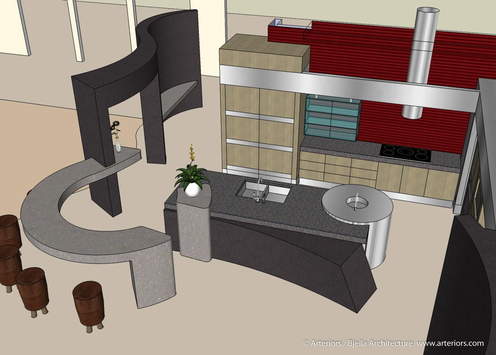 3D Architectural Modeling - Modern Kitchen