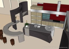 3D Architectural Modeling - Modern Kitchen
