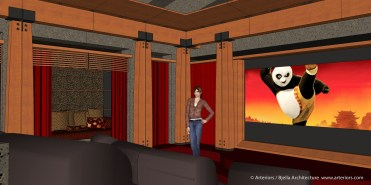 California Modern Home Theater Design by Tim Bjella - 2-1