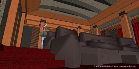California Modern Home Theater Design by Tim Bjella - 2-2