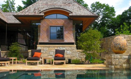 Modern Copper Clad Home Design in St Louis, Missouri by Bjella Architects, Los Angeles California