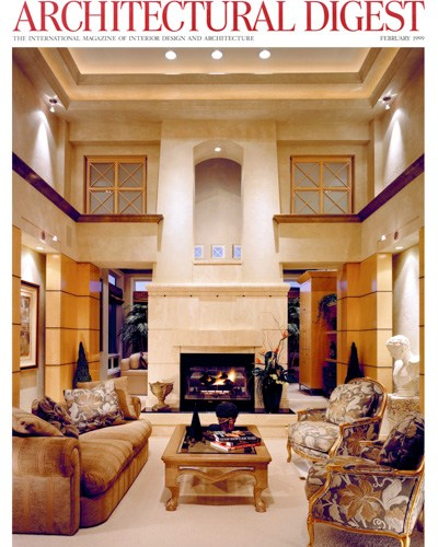 Architectural Digest Magazine Cover - Home Design by Bjella Architects