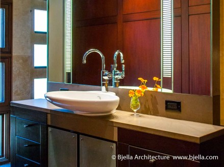 Modern Bathroom Vanity Design by Bjella Architects