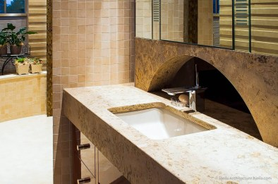 Modern bathroom arched vanity