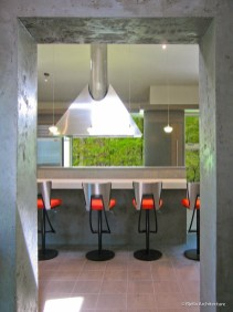Modern Kitchen with Custom Pyramid Vent Hood