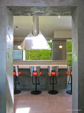 Modern Kitchen with Custom Pyramid Vent Hood