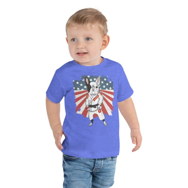 BJJ Toddler Short Sleeve Tee for kid - Brazilian Jiu-Jitsu BJJ Master French Bulldog 3