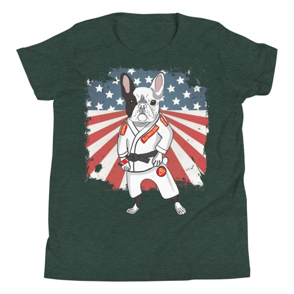 BJJ Youth T-Shirt - Brazilian Jiu-jitsu BJJ Master French Bulldog 3