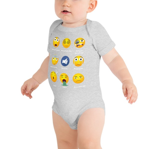 BJJ Baby Body Suite Brazillian Jiu-Jitsu 9 Shades Emoji Emoticons 3