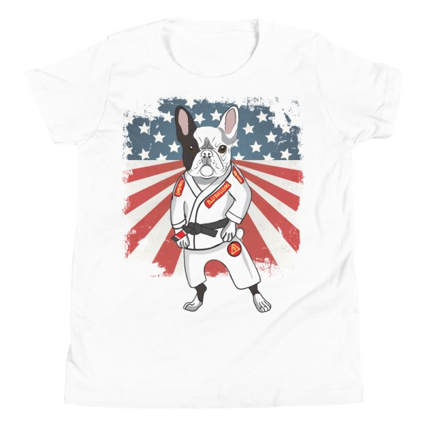 BJJ Youth T-Shirt - Brazilian Jiu-jitsu BJJ Master French Bulldog 1