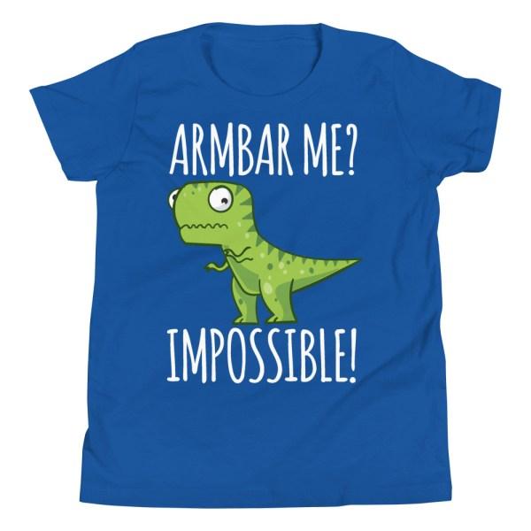 Youth/Kid BJJ T-Shirt Brazilian Jiu-Jitsu Armbar T-Rex? Not Possible 5
