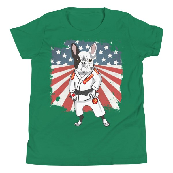 BJJ Youth T-Shirt - Brazilian Jiu-jitsu BJJ Master French Bulldog 6