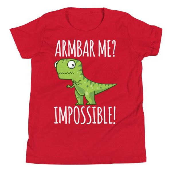 Youth/Kid BJJ T-Shirt Brazilian Jiu-Jitsu Armbar T-Rex? Not Possible 7