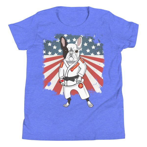 BJJ Youth T-Shirt - Brazilian Jiu-jitsu BJJ Master French Bulldog 9